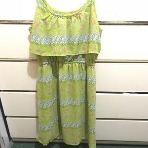 Green summer dress with straps size small